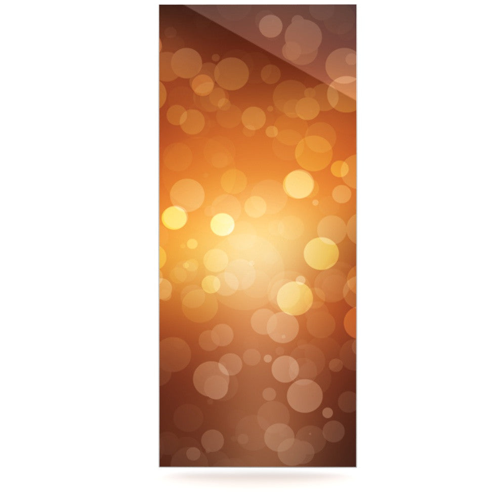 "KESS Original ""Sunrise"" Orange Bokeh Luxe Rectangle Panel - KESS InHouse  - 1"