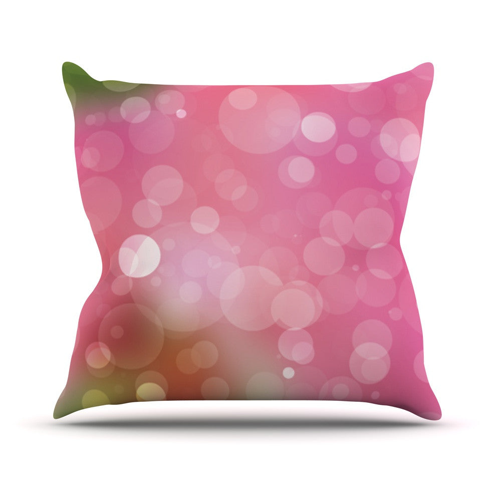 "KESS Original ""Gypsy"" Pink Bokeh Throw Pillow - KESS InHouse  - 1"