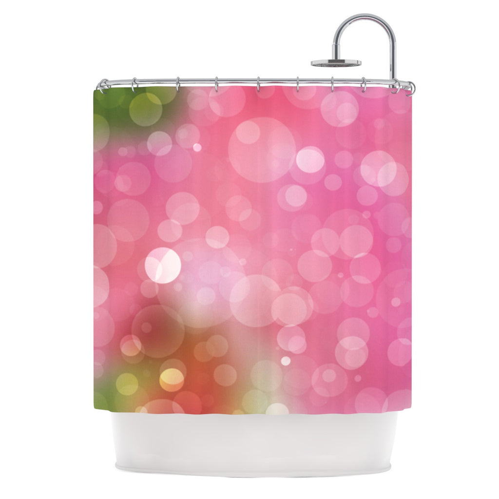 "KESS Original ""Gypsy"" Pink Bokeh Shower Curtain - KESS InHouse"