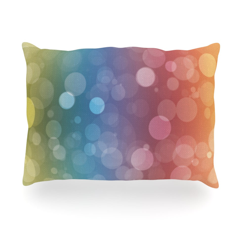 "KESS Original ""Prism"" Rainbow Bokeh Oblong Pillow - KESS InHouse"