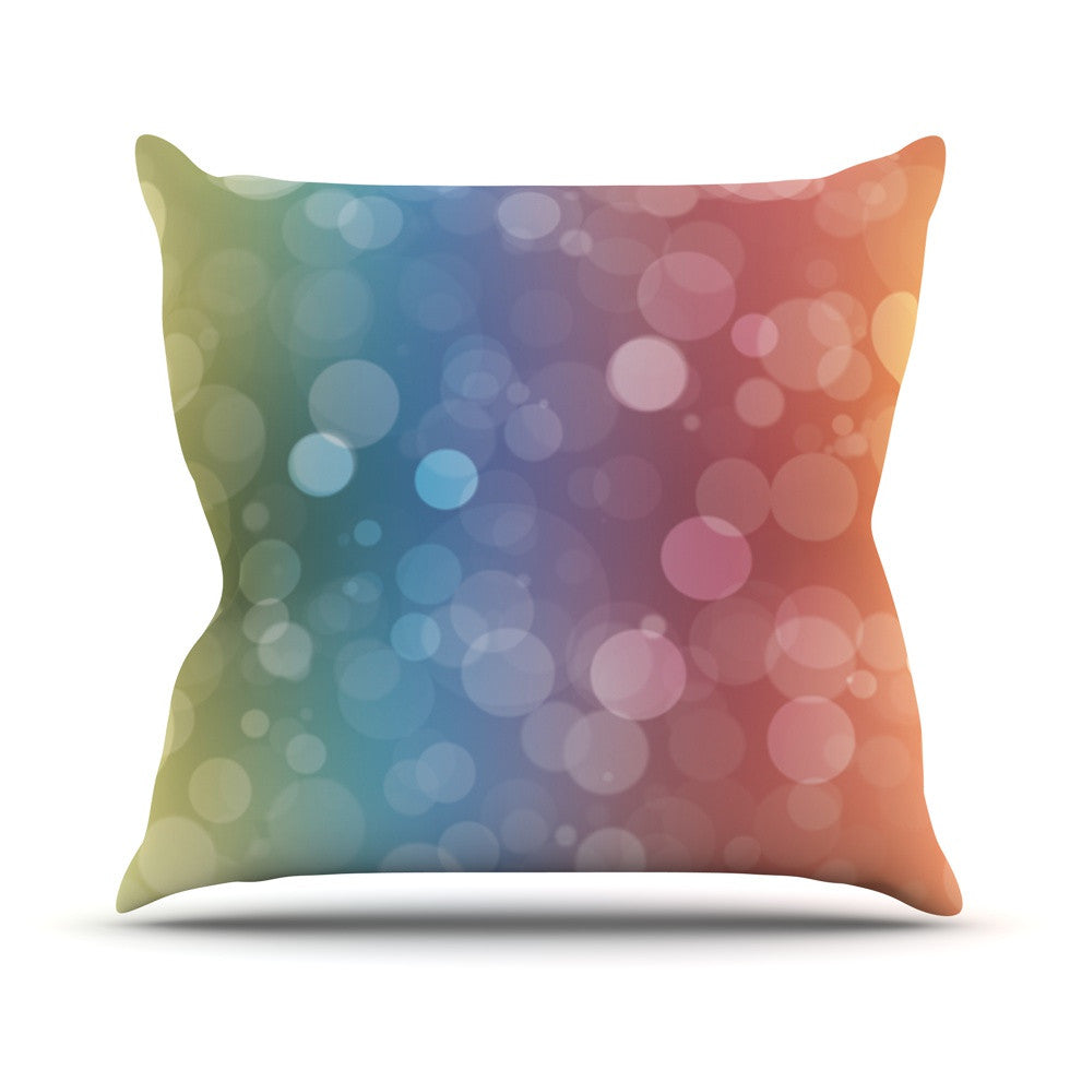 "KESS Original ""Prism"" Rainbow Bokeh Throw Pillow - KESS InHouse  - 1"