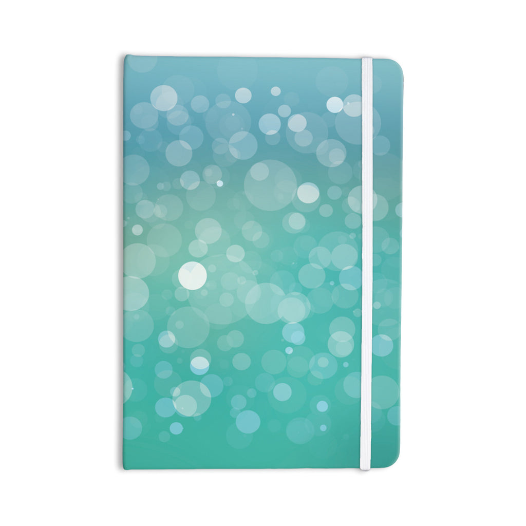 "KESS Original ""Let It Go"" Aqua Bokeh Everything Notebook - KESS InHouse  - 1"