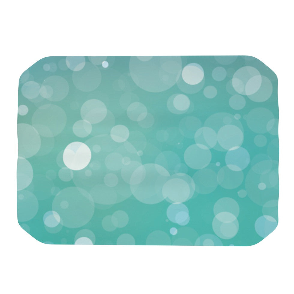 "KESS Original ""Let It Go"" Aqua Bokeh Place Mat - KESS InHouse"