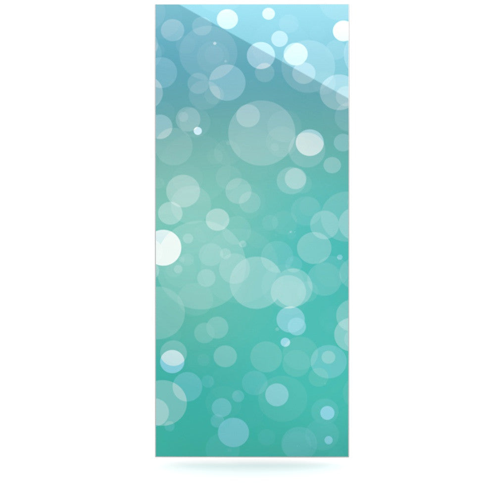 "KESS Original ""Let It Go"" Aqua Bokeh Luxe Rectangle Panel - KESS InHouse  - 1"