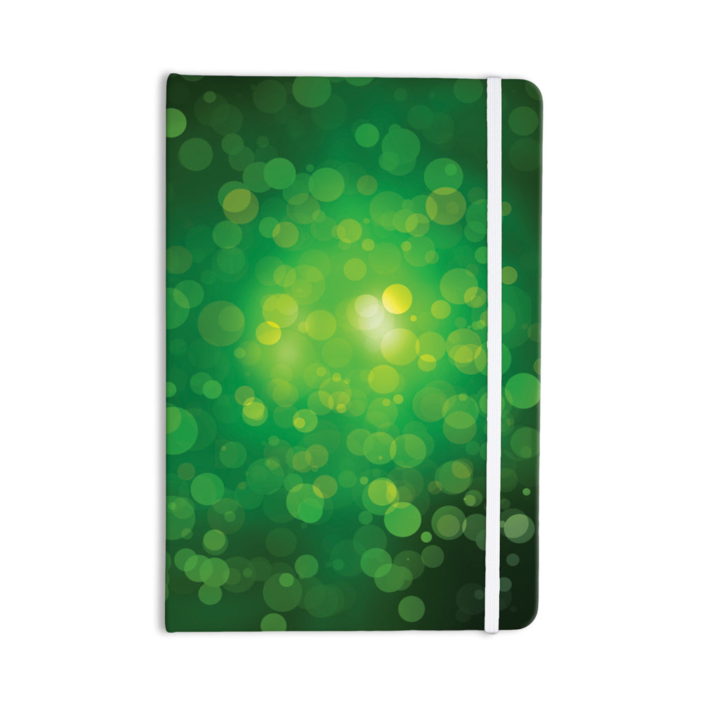 "KESS Original ""Radioactive"" Green Bokeh Everything Notebook - KESS InHouse  - 1"