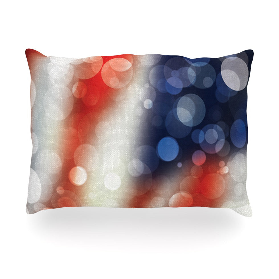 "KESS Original ""Patriot"" America Bokeh Oblong Pillow - KESS InHouse"