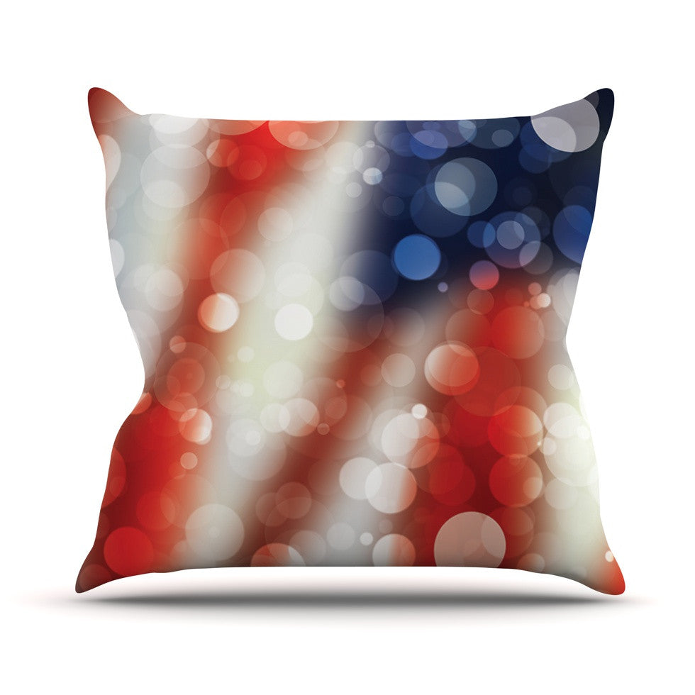 "KESS Original ""Patriot"" America Bokeh Throw Pillow - KESS InHouse  - 1"
