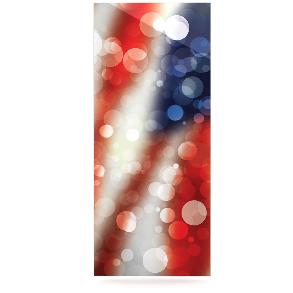 "KESS Original ""Patriot"" America Bokeh Luxe Rectangle Panel - KESS InHouse  - 1"