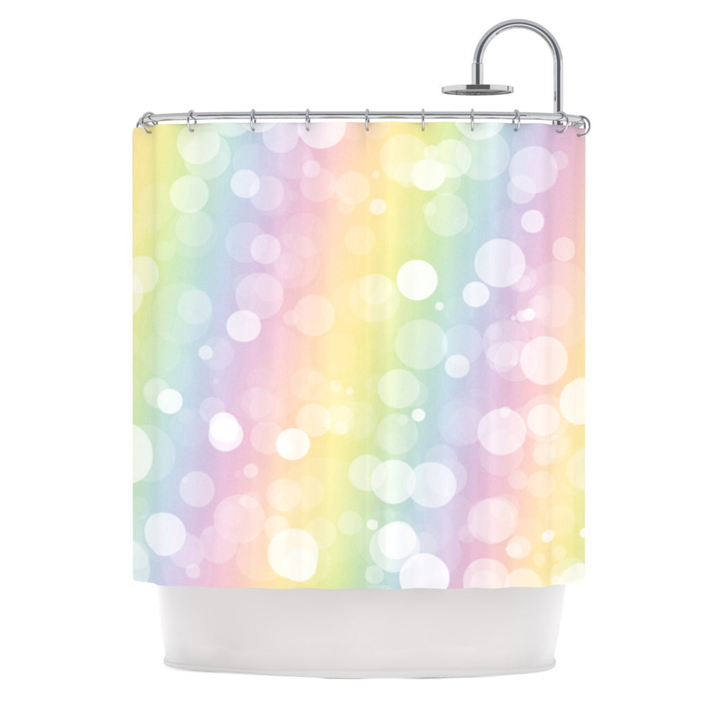 "KESS Original ""Pastel Prism"" Rainbow Bokeh Shower Curtain - KESS InHouse"