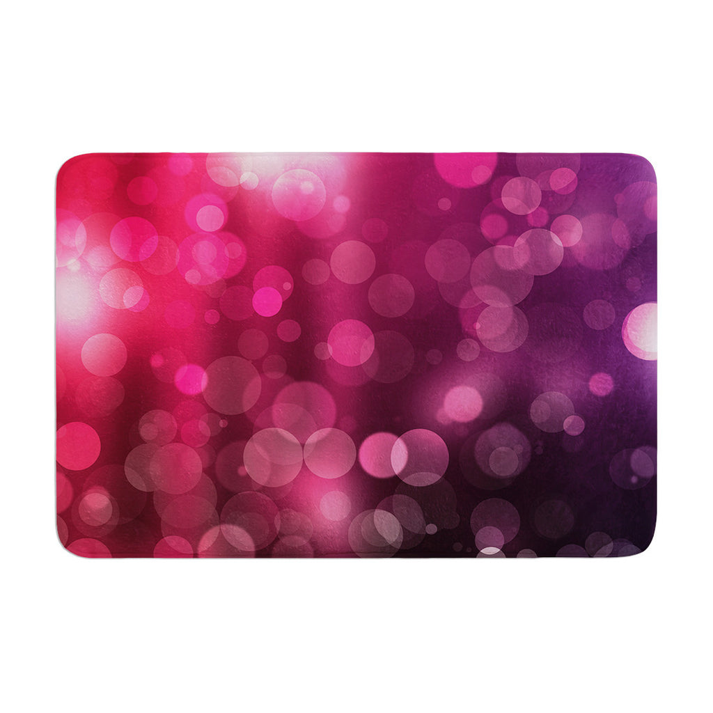 "KESS Original ""Dark Horse"" Purple Bokeh Memory Foam Bath Mat - KESS InHouse"