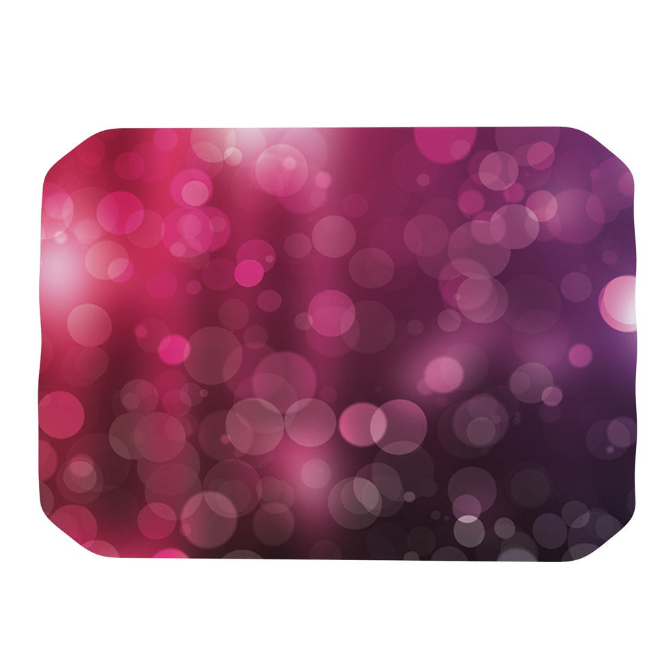 "KESS Original ""Dark Horse"" Purple Bokeh Place Mat - KESS InHouse"