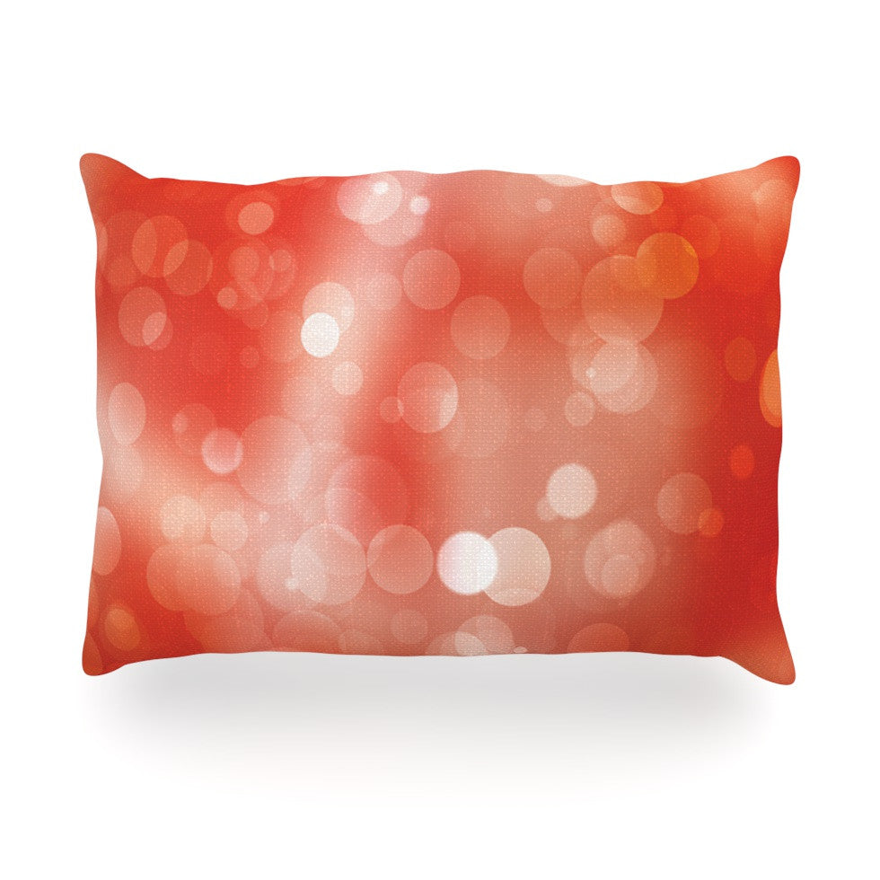 "KESS Original ""Passion Fruit"" Orange Bokeh Oblong Pillow - KESS InHouse"