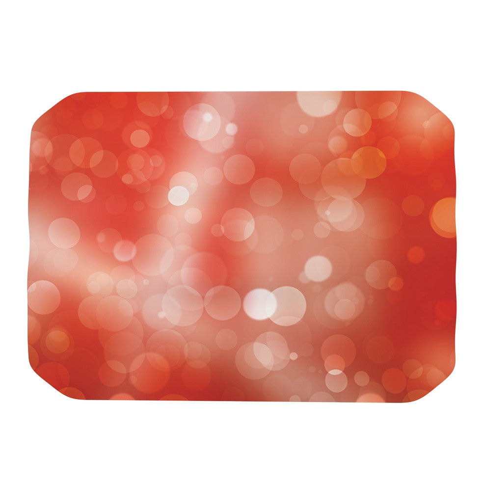 "KESS Original ""Passion Fruit"" Orange Bokeh Place Mat - KESS InHouse"