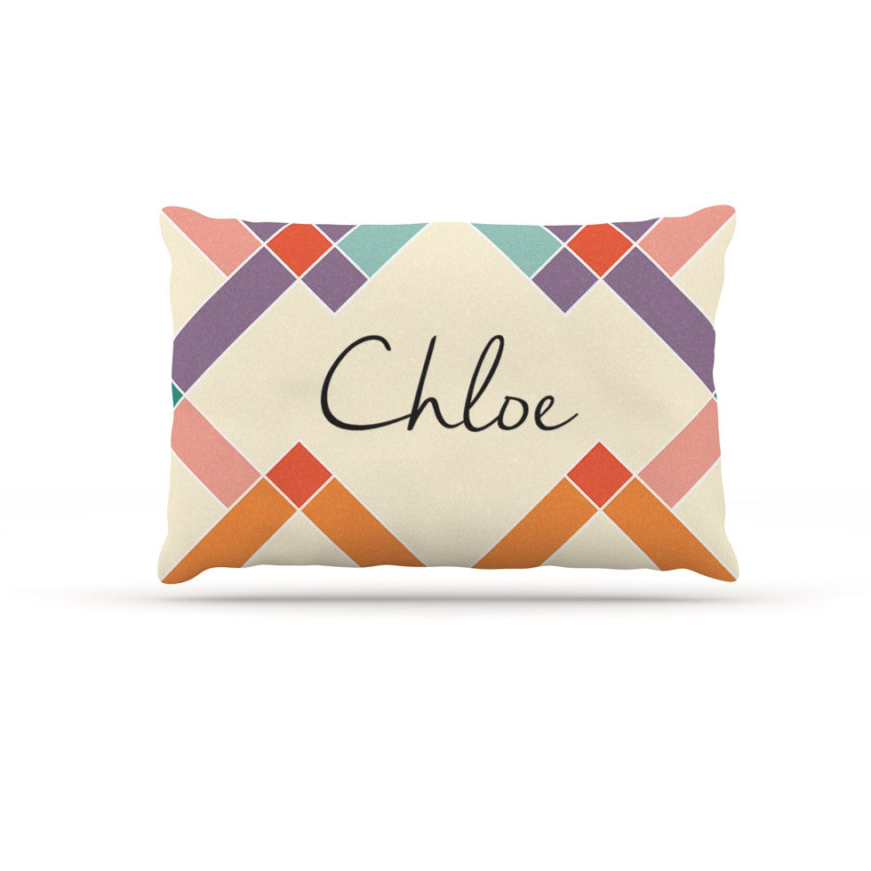 "KESS Original ""Chloe"" Colorful Geometry Dog Bed - KESS InHouse  - 1"