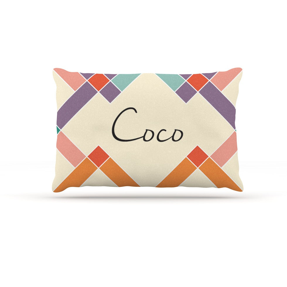 "KESS Original ""Coco"" Colorful Geometry Dog Bed - KESS InHouse  - 1"