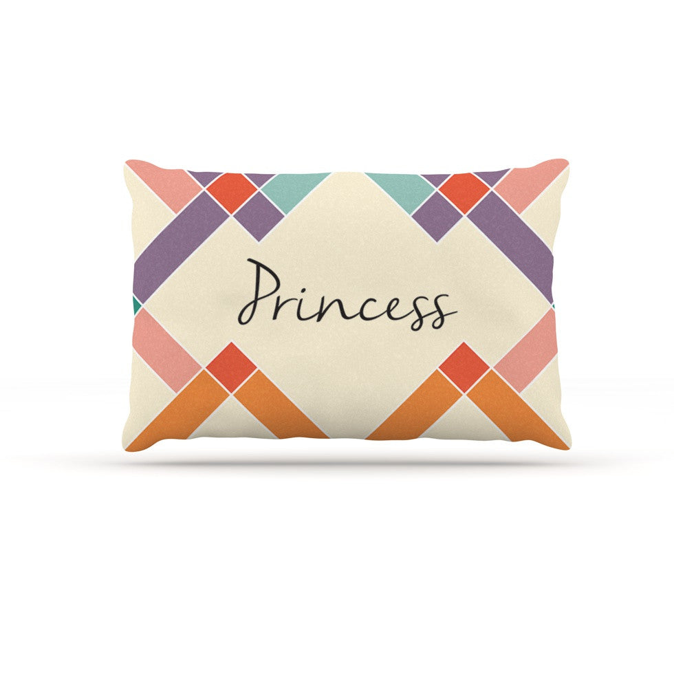 "KESS Original ""Princess"" Colorful Geometry Dog Bed - KESS InHouse  - 1"