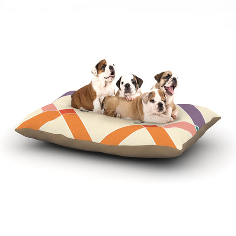 "KESS Original ""Shelby"" Colorful Geometry Dog Bed - Outlet Item"