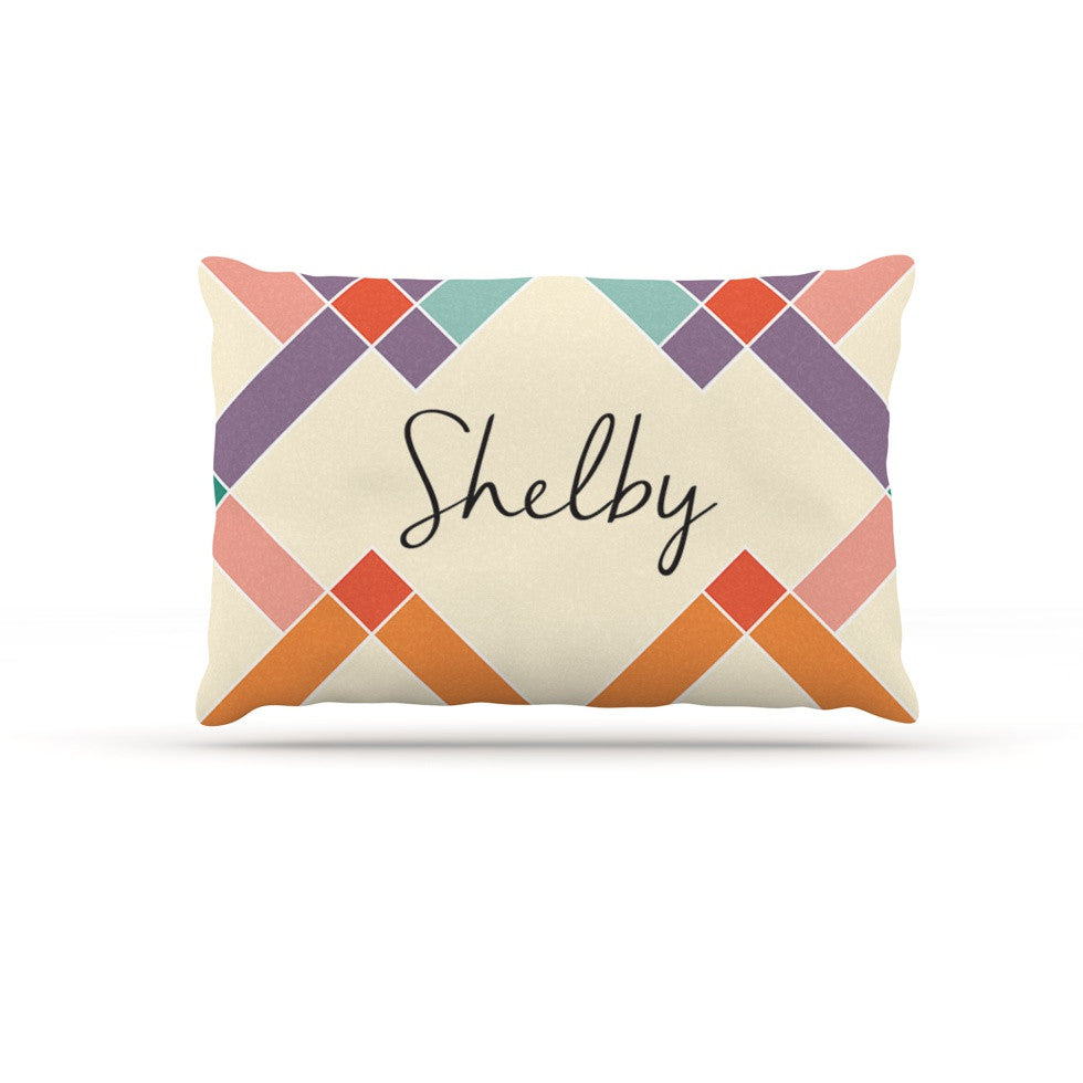 "KESS Original ""Shelby"" Colorful Geometry Dog Bed - KESS InHouse  - 1"