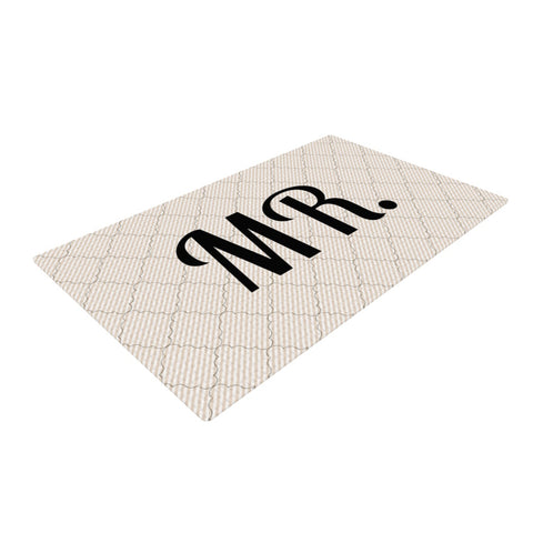 "KESS Original ""MR""  Woven Area Rug - Outlet Item"