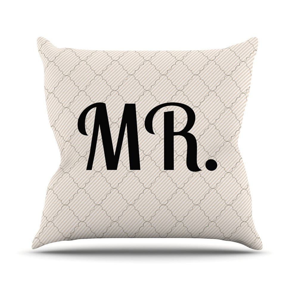 "KESS Original ""MR"" Outdoor Throw Pillow - KESS InHouse  - 1"