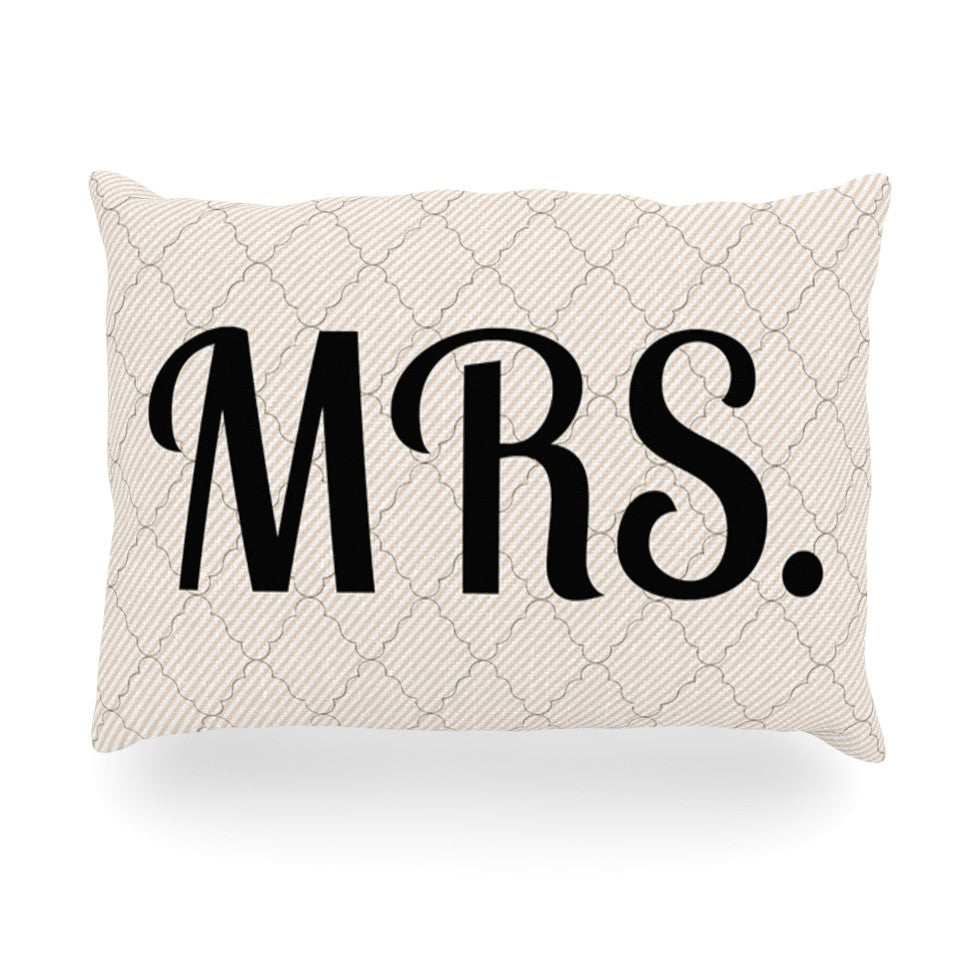 "KESS Original ""MRS"" Oblong Pillow - KESS InHouse"
