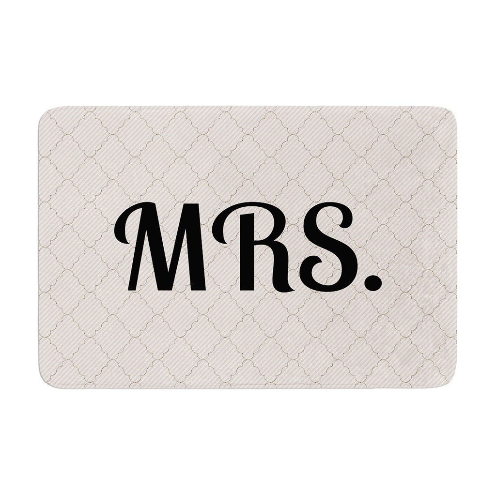 "KESS Original ""MRS"" Memory Foam Bath Mat - KESS InHouse"