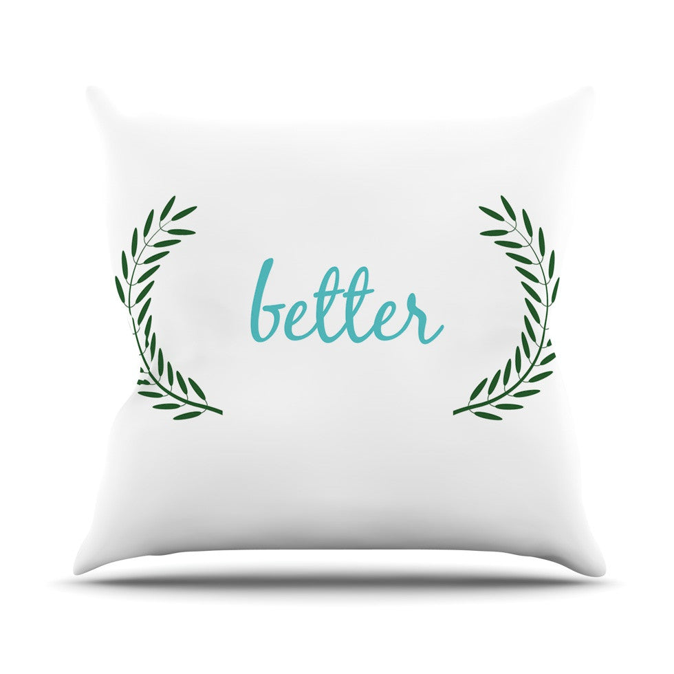 "KESS Original ""Better"" Couples Outdoor Throw Pillow - KESS InHouse  - 1"