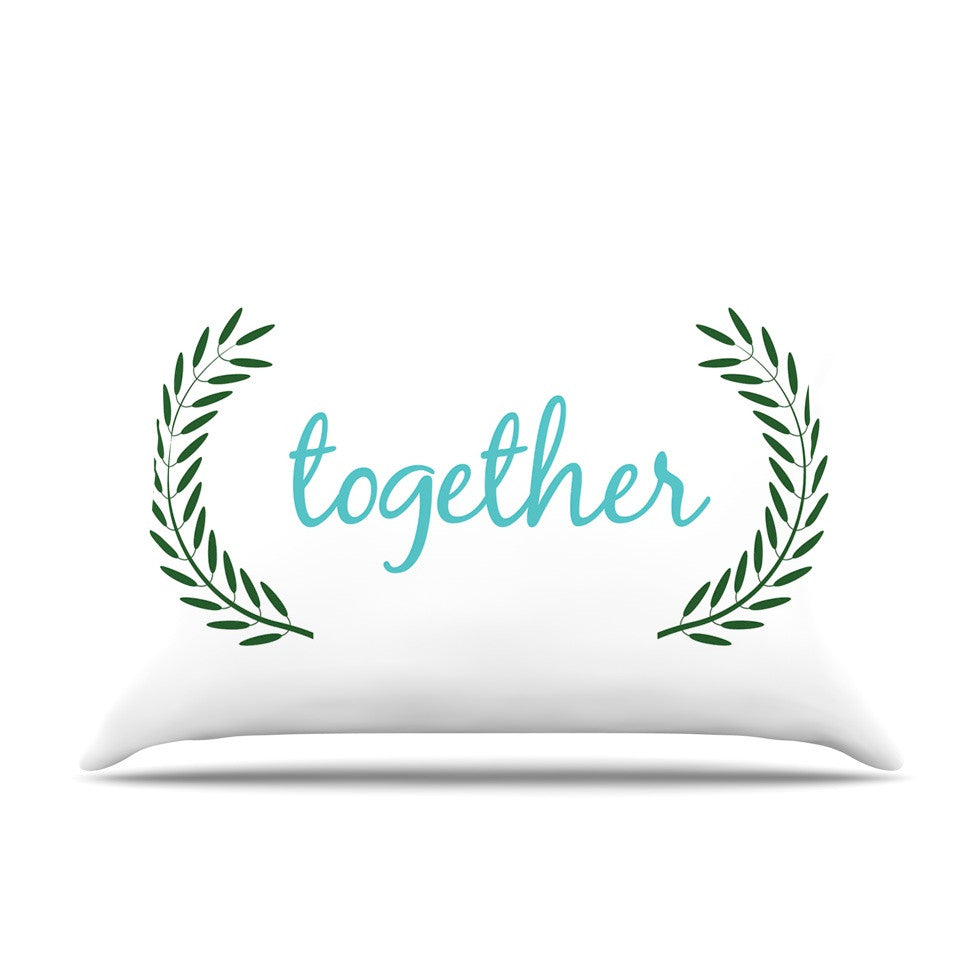 "KESS Original ""Together"" Couples Pillow Sham - KESS InHouse"
