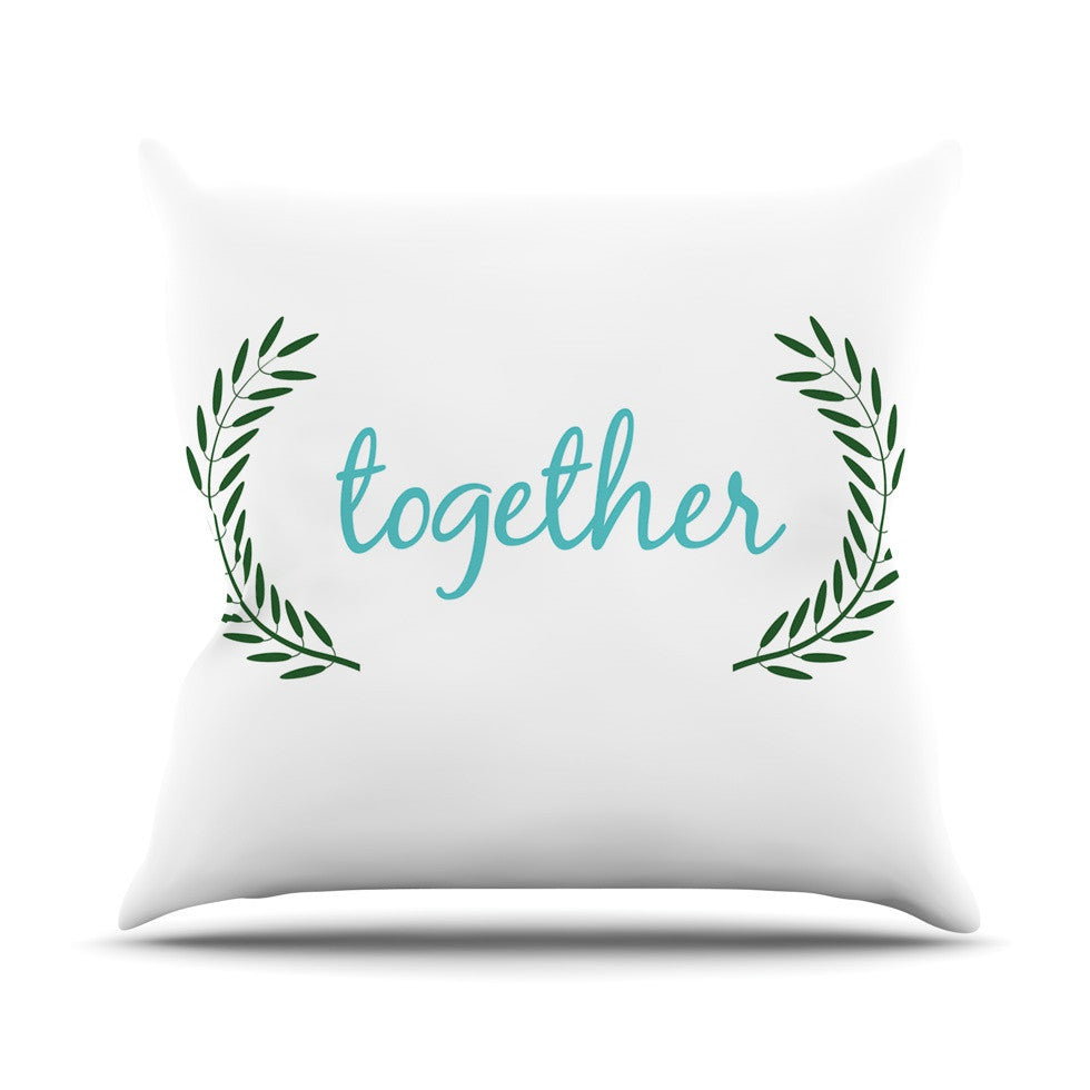 "KESS Original ""Together"" Couples Outdoor Throw Pillow - KESS InHouse  - 1"