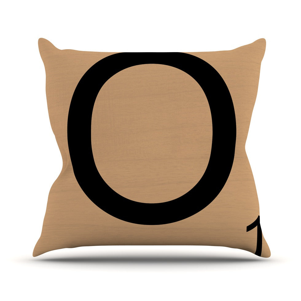 "KESS Original ""O"" Letters Outdoor Throw Pillow - KESS InHouse  - 1"