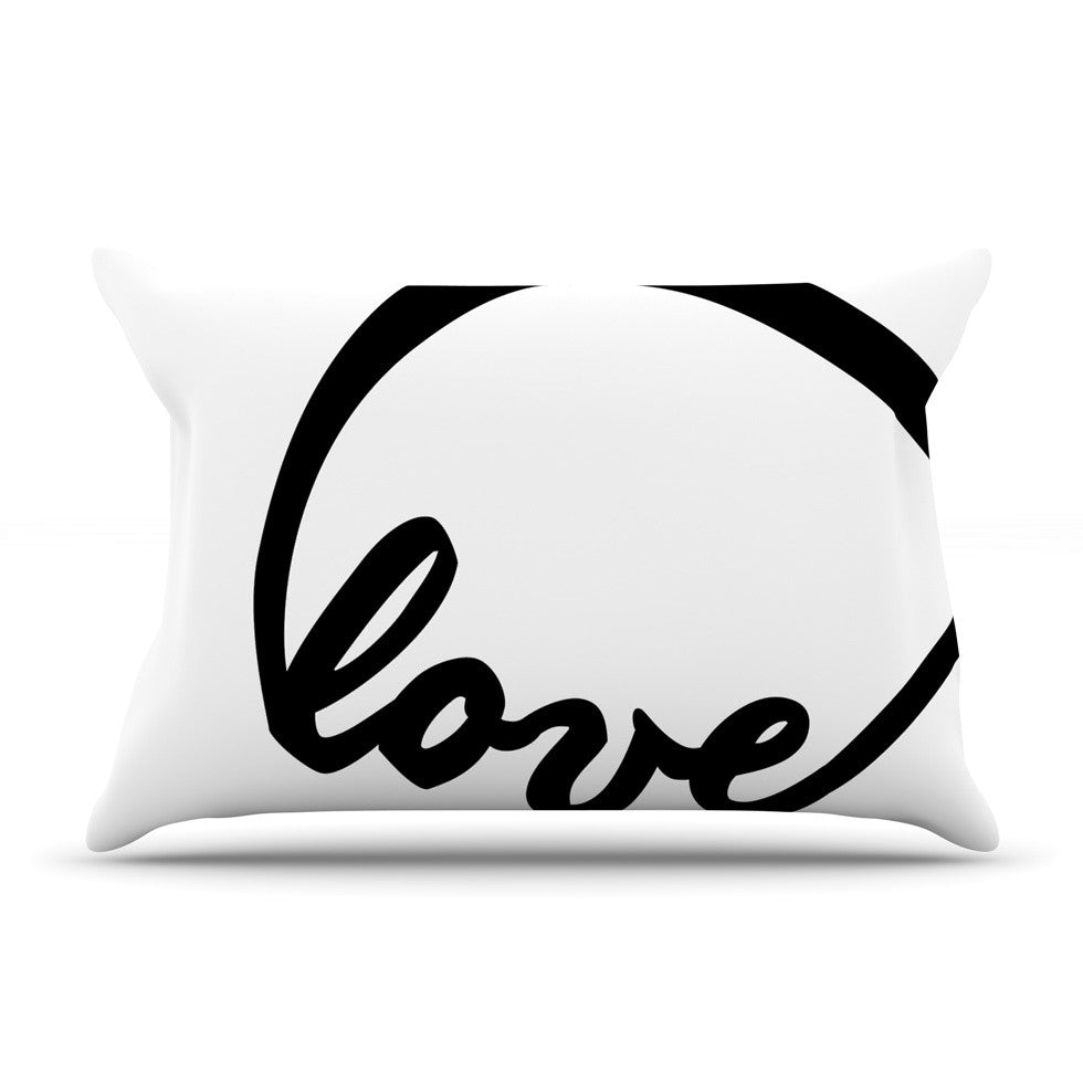 "KESS Original ""Love I"" Couples Pillow Sham - KESS InHouse"