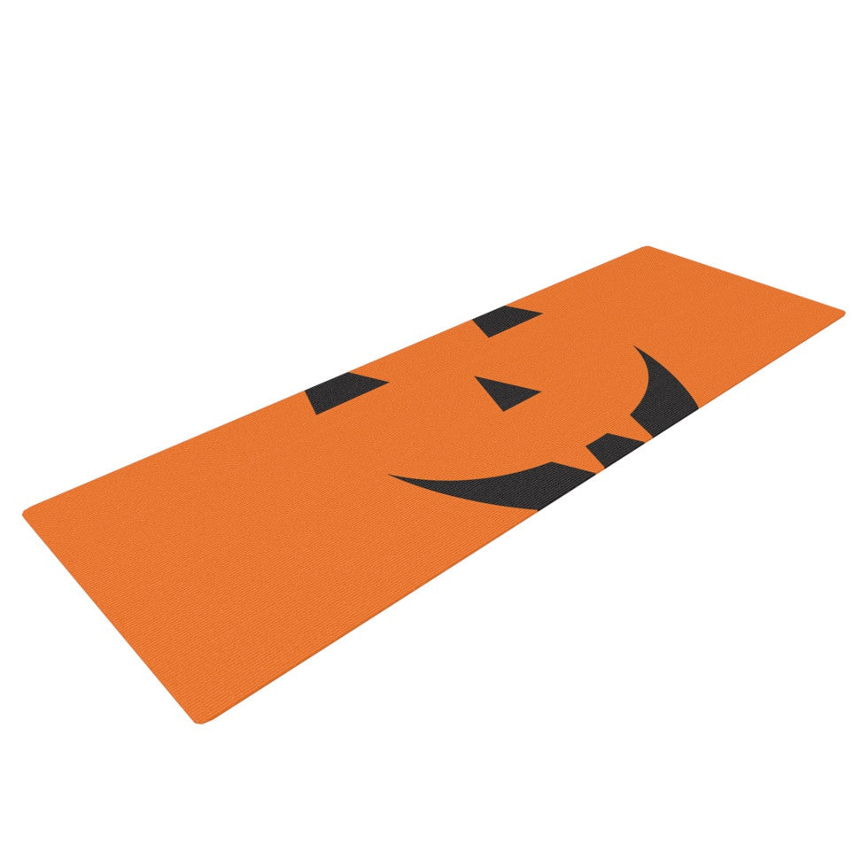 "KESS Original ""Pumpkin - Treat"" Yoga Mat - KESS InHouse  - 1"