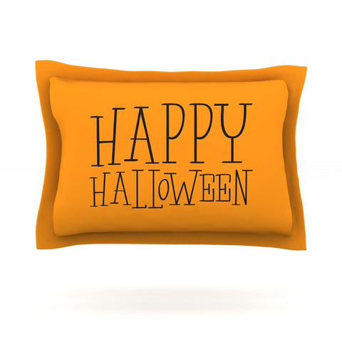 "KESS Original ""Happy Halloween - Orange"" Pillow Sham - Outlet Item"