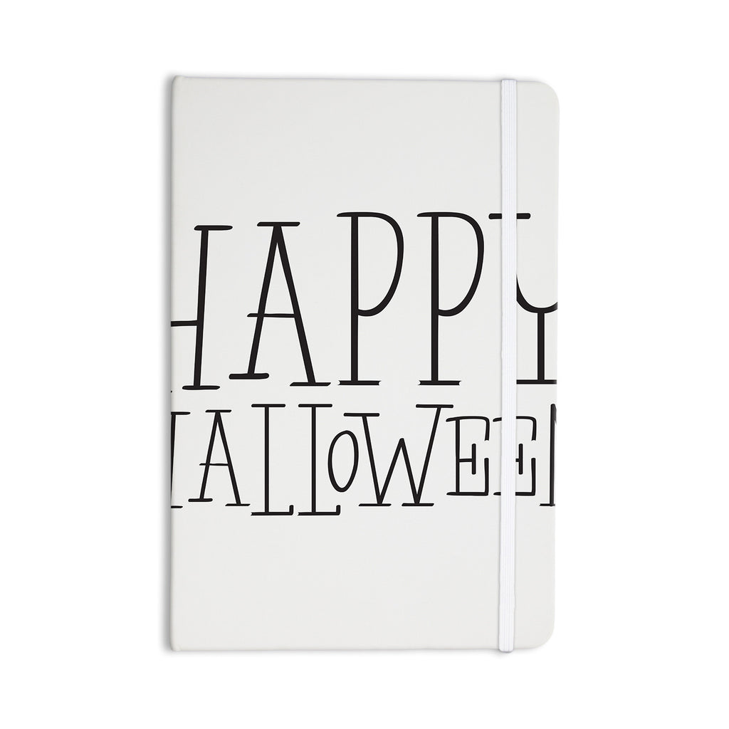 "KESS Original ""Happy Halloween - White"" Everything Notebook - KESS InHouse  - 1"
