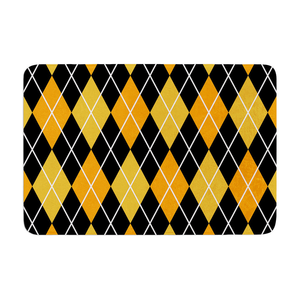 "KESS Original ""Argyle - Night"" Memory Foam Bath Mat - KESS InHouse"