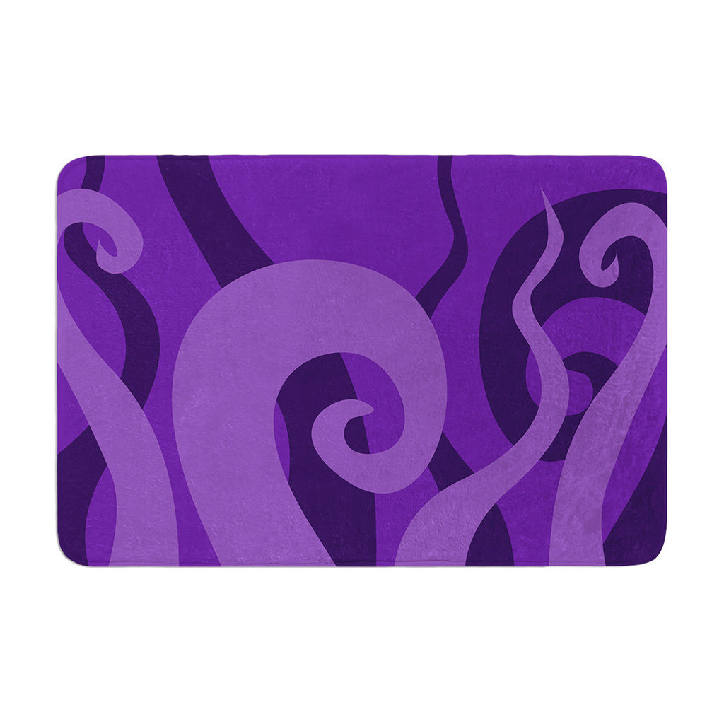 "KESS Original ""Poor Unfortunate Souls - Purple"" Memory Foam Bath Mat - KESS InHouse"
