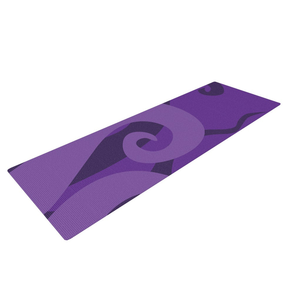 "KESS Original ""Poor Unfortunate Souls - Purple"" Yoga Mat - KESS InHouse  - 1"