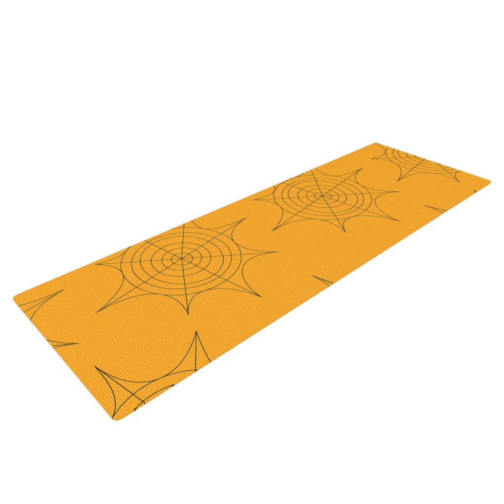 "KESS Original ""Spiderwebs"" Yoga Mat - KESS InHouse  - 1"