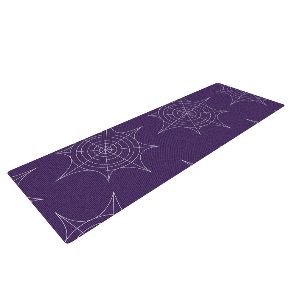 "KESS Original ""Spiderwebs - Purple"" Yoga Mat - KESS InHouse  - 1"