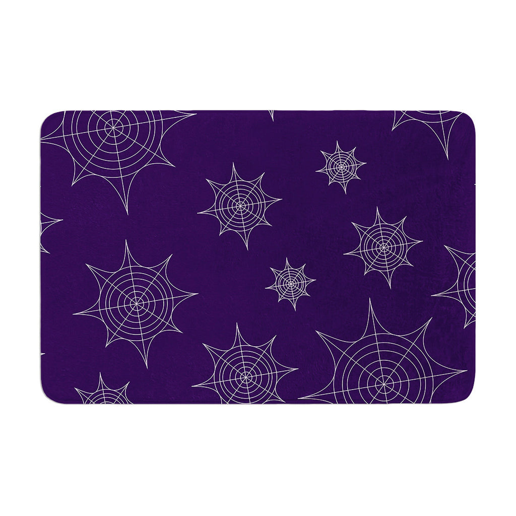 "KESS Original ""Mini Webs Purple"" Memory Foam Bath Mat - KESS InHouse"