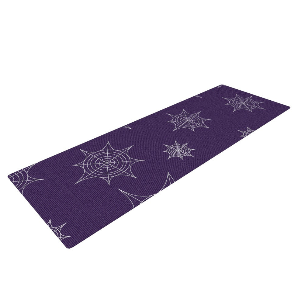 "KESS Original ""Mini Webs Purple"" Yoga Mat - KESS InHouse  - 1"