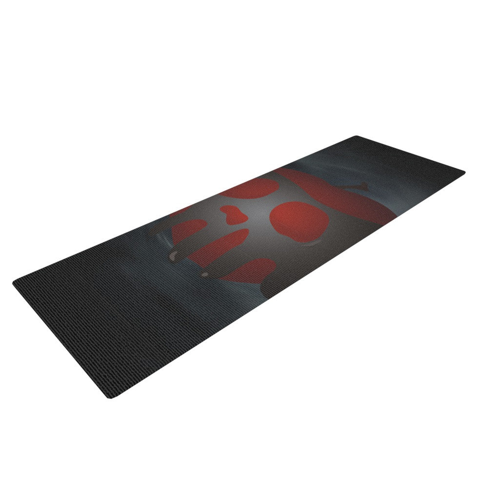 "KESS Original ""One Last Bite"" Poison Apple Yoga Mat - KESS InHouse  - 1"