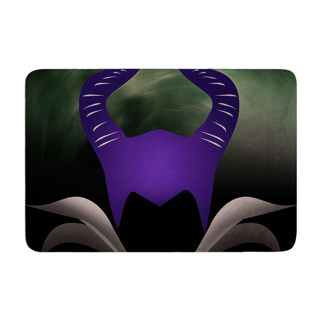 "KESS Original ""Dark Fairy"" Memory Foam Bath Mat - KESS InHouse"