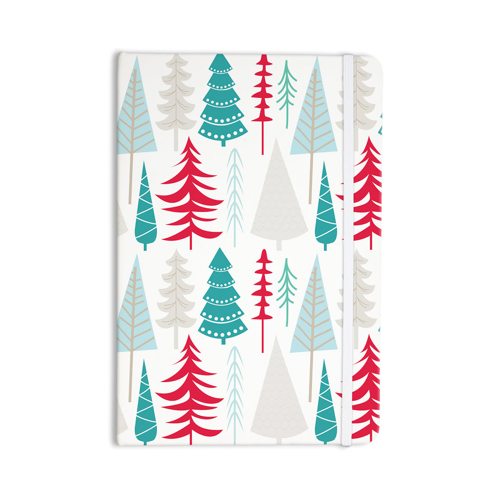 "KESS Original ""Happy Forest Red"" Blue Everything Notebook - KESS InHouse  - 1"