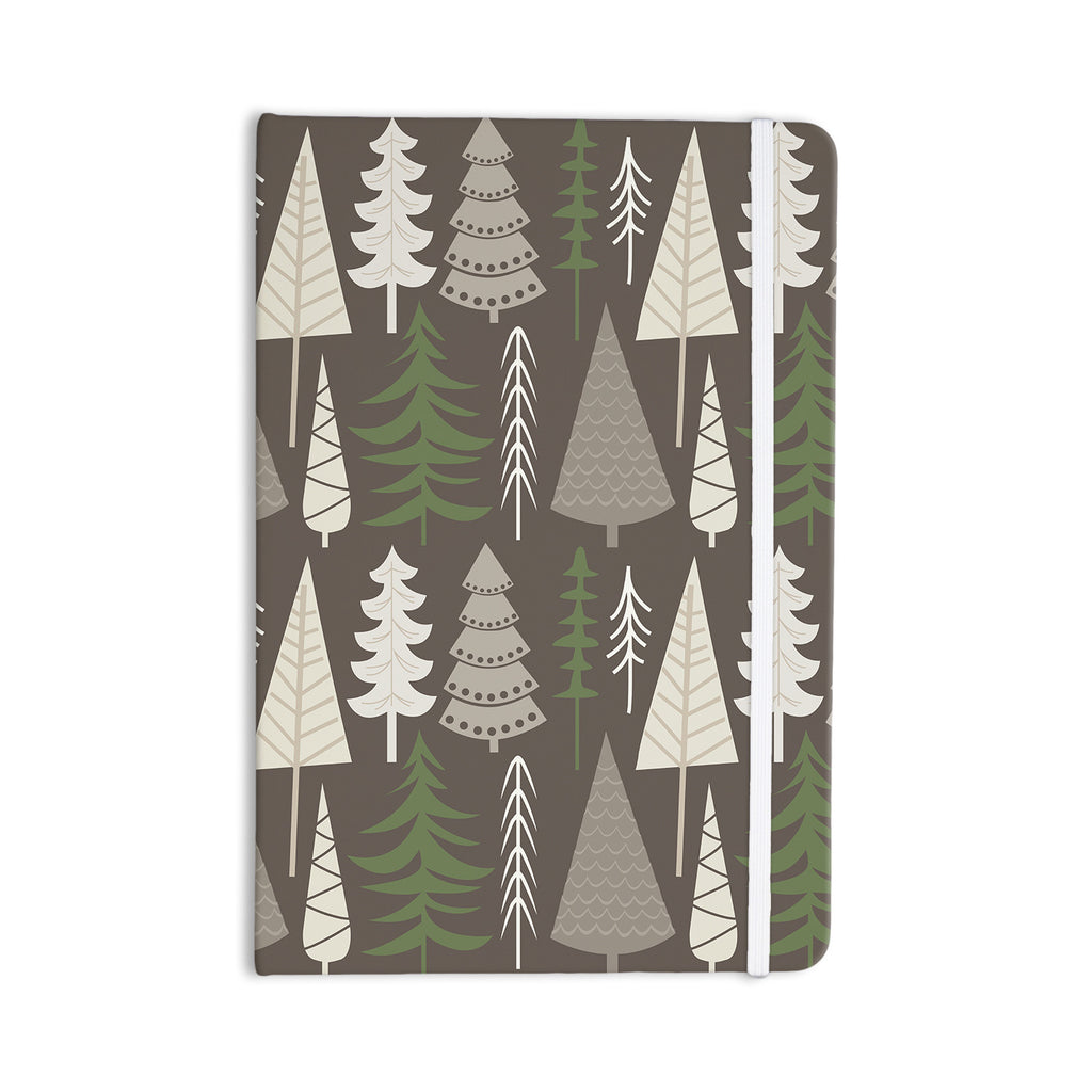 "KESS Original ""Happy Forest Brown"" Green Everything Notebook - KESS InHouse  - 1"