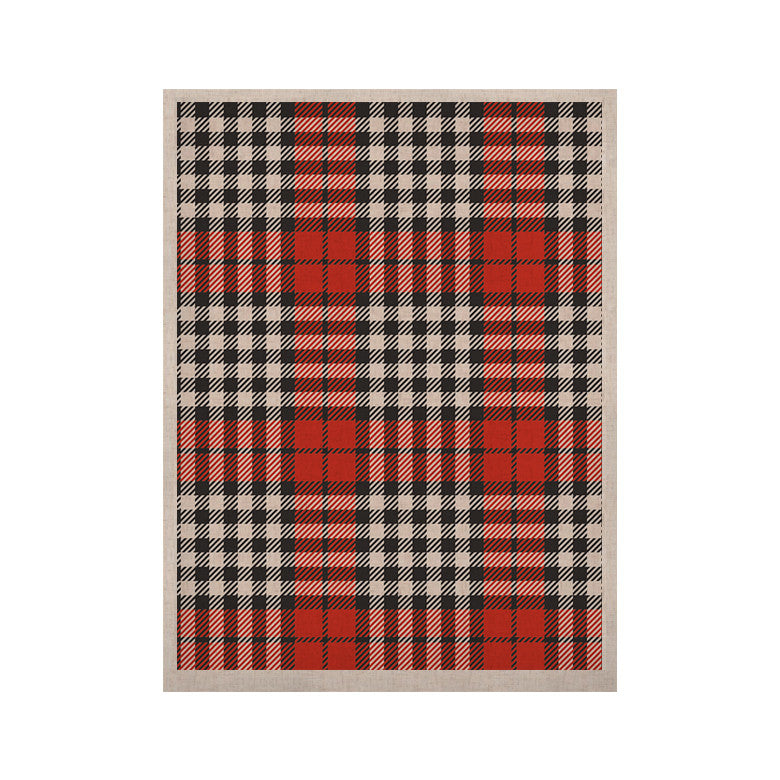 "KESS Original ""Lumberjack Joe"" Red Black KESS Naturals Canvas (Frame not Included) - KESS InHouse  - 1"