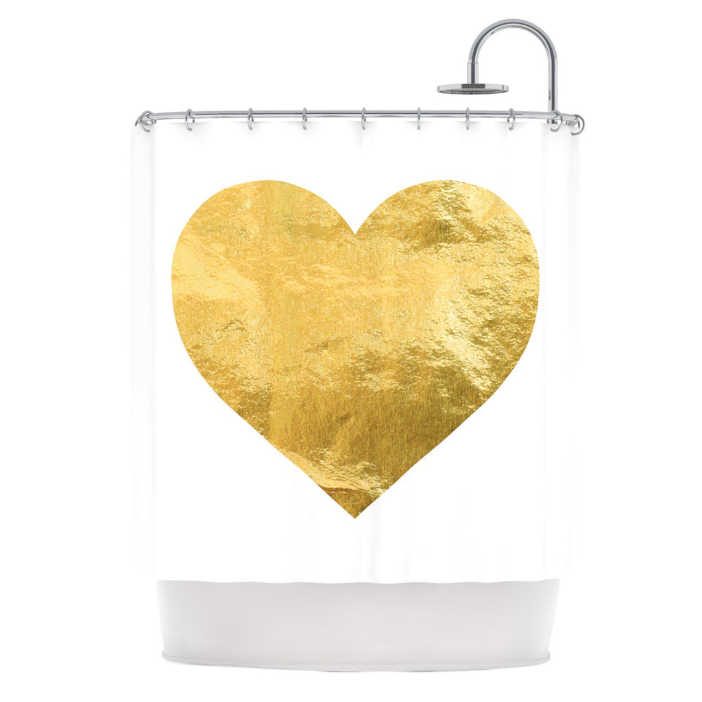 "KESS Original ""Heart of Gold"" Shower Curtain - KESS InHouse"
