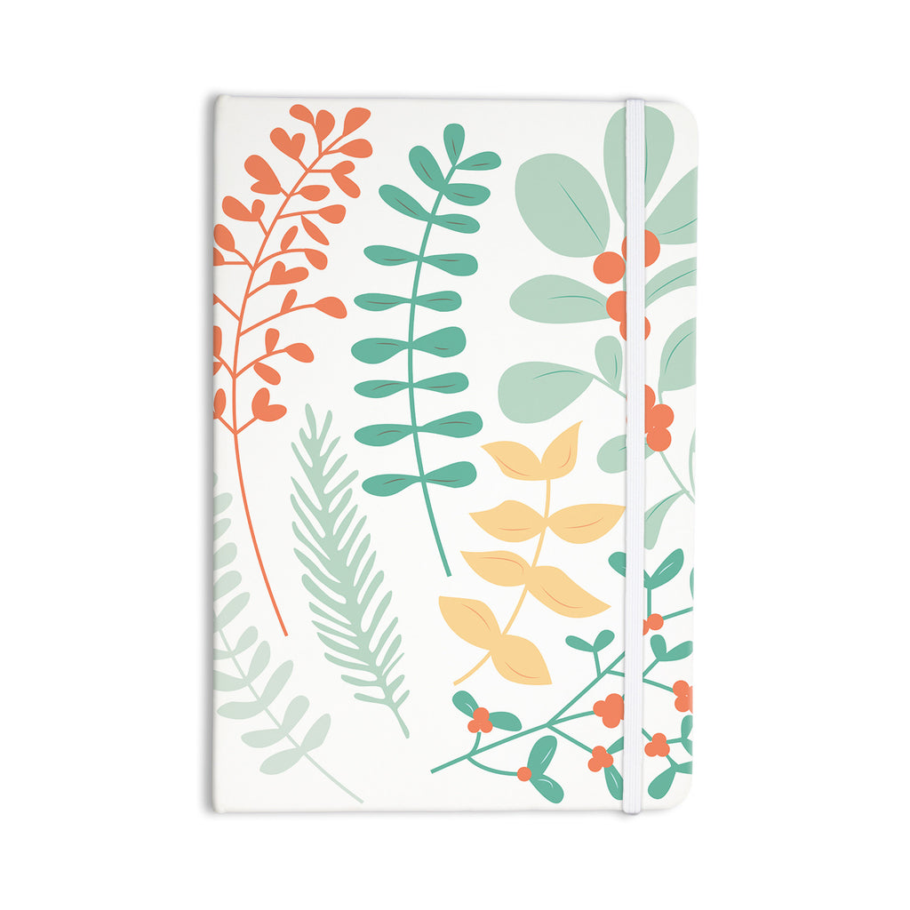 "KESS Original ""Deck the Hollies Orange"" Teal Everything Notebook - KESS InHouse  - 1"