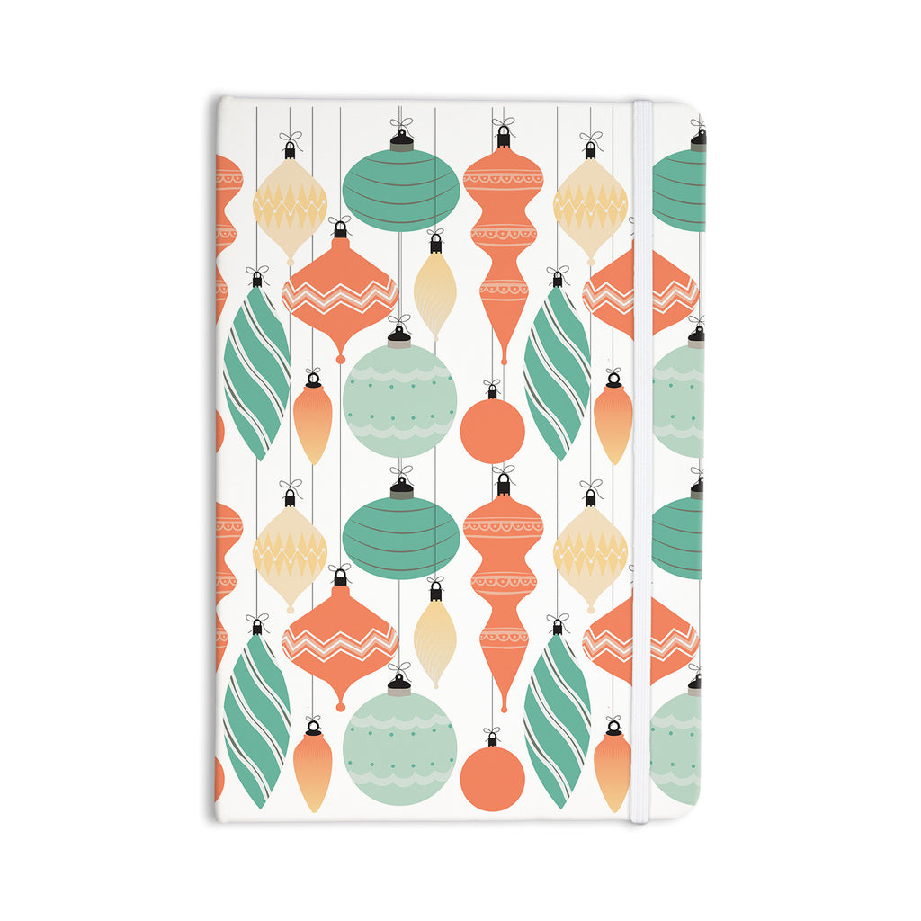 "KESS Original ""Mixed Ornaments Orange"" Teal Everything Notebook - KESS InHouse  - 1"