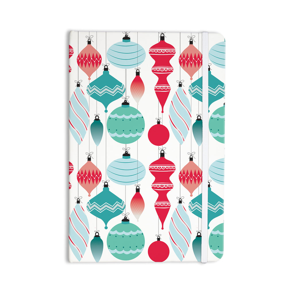 "KESS Original ""Mixed Ornaments Red"" Blue Everything Notebook - KESS InHouse  - 1"